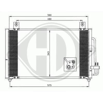 Condenseur, climatisation - Diederichs Germany - 8654000