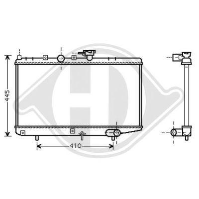 Radiateur, refroidissement du moteur - Diederichs Germany - 8654005