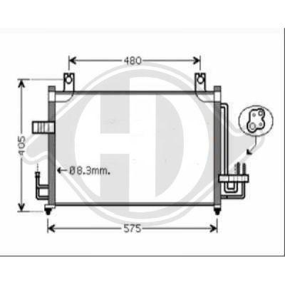Condenseur, climatisation - Diederichs Germany - 8654100