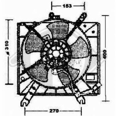 Ventilateur, refroidissement du moteur - Diederichs Germany - 8654101