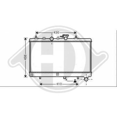 Radiateur, refroidissement du moteur - Diederichs Germany - 8654105