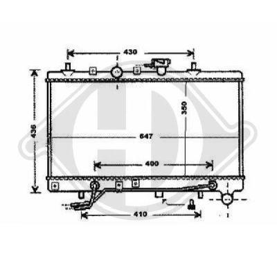 Radiateur, refroidissement du moteur - Diederichs Germany - 8654106