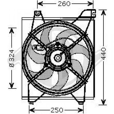 Ventilateur, refroidissement du moteur - Diederichs Germany - 8654108