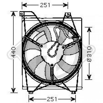 Ventilateur, condenseur de climatisation - Diederichs Germany - 8654109