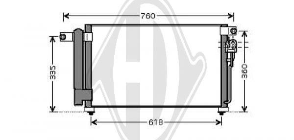 Condenseur, climatisation - Diederichs Germany - 8654110
