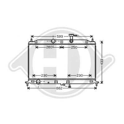 Radiateur, refroidissement du moteur - Diederichs Germany - 8654113