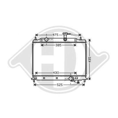 Radiateur, refroidissement du moteur - Diederichs Germany - 8654114