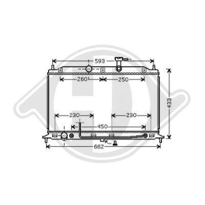 Radiateur, refroidissement du moteur - Diederichs Germany - 8654115
