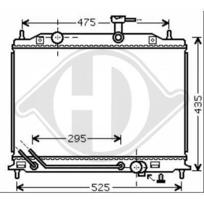 Radiateur, refroidissement du moteur - Diederichs Germany - 8654116