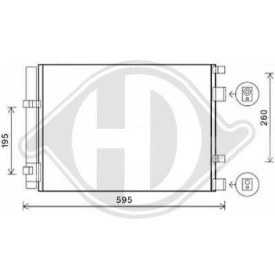 Condenseur, climatisation - Diederichs Germany - 8654200