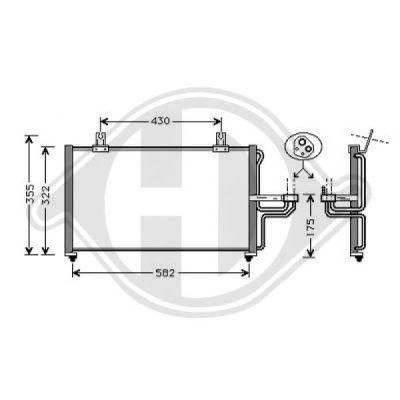Condenseur, climatisation - Diederichs Germany - 8655000