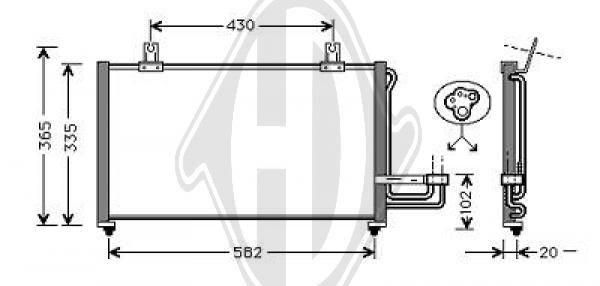 Condenseur, climatisation - Diederichs Germany - 8655100