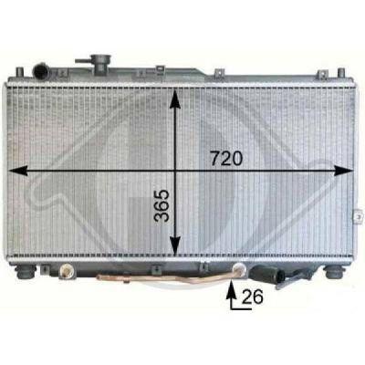 Radiateur, refroidissement du moteur - Diederichs Germany - 8655106