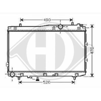 Radiateur, refroidissement du moteur - Diederichs Germany - 8655200