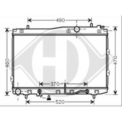 Radiateur, refroidissement du moteur - Diederichs Germany - 8655201