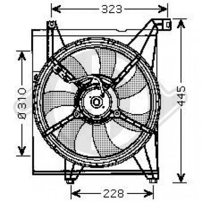 Ventilateur, refroidissement du moteur - Diederichs Germany - 8655203