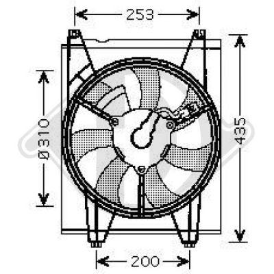 Ventilateur, condenseur de climatisation - Diederichs Germany - 8655204