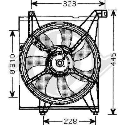 Ventilateur, refroidissement du moteur - Diederichs Germany - 8655207