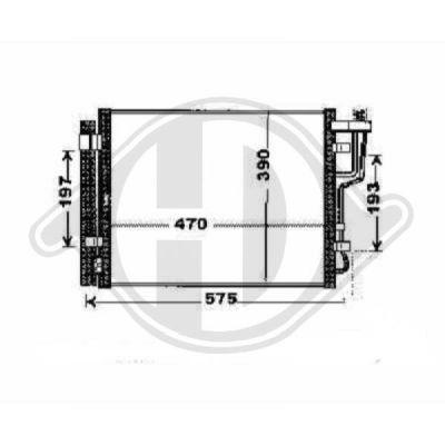 Condenseur, climatisation - Diederichs Germany - 8655301