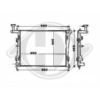 Radiateur, refroidissement du moteur - HDK-Germany - 77HDK8655302