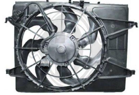 Ventilateur, refroidissement du moteur - Diederichs Germany - 8655305