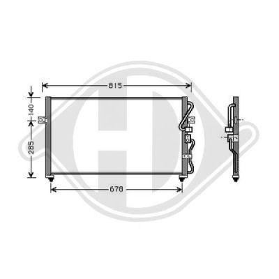 Condenseur, climatisation - Diederichs Germany - 8658000