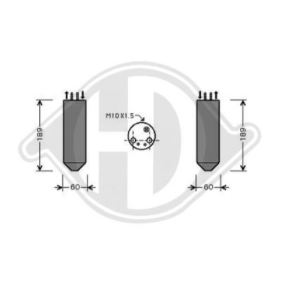 Filtre déshydratant, climatisation - Diederichs Germany - 8658001