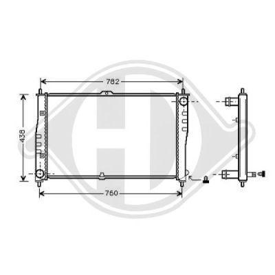 Radiateur, refroidissement du moteur - Diederichs Germany - 8658005