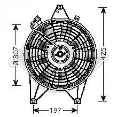 Ventilateur, refroidissement du moteur - Diederichs Germany - 8658016