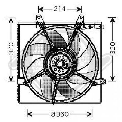 Ventilateur, refroidissement du moteur - HDK-Germany - 77HDK8658017