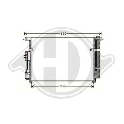 Condenseur, climatisation - Diederichs Germany - 8658100