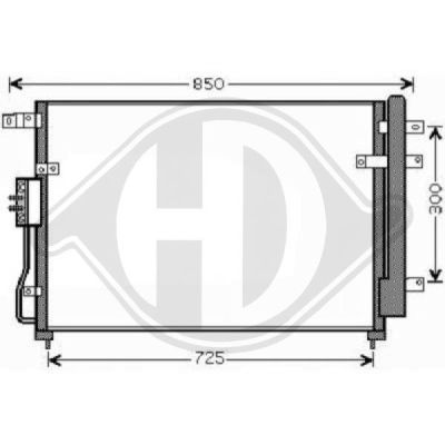 Condenseur, climatisation - HDK-Germany - 77HDK8658101