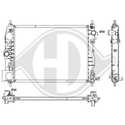 Radiateur, refroidissement du moteur - Diederichs Germany - 8658105