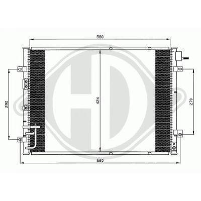 Condenseur, climatisation - Diederichs Germany - 8658500
