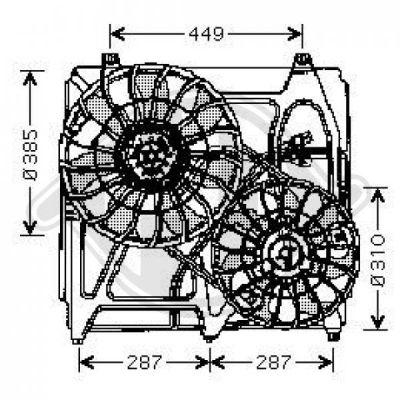 Ventilateur, refroidissement du moteur - Diederichs Germany - 8658502