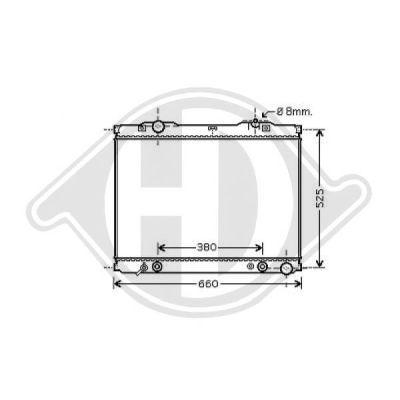 Radiateur, refroidissement du moteur - Diederichs Germany - 8658506