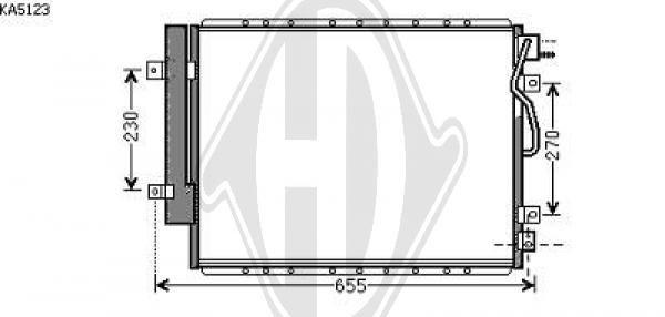 Condenseur, climatisation - HDK-Germany - 77HDK8658510