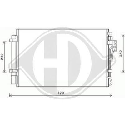 Condenseur, climatisation - Diederichs Germany - 8658600
