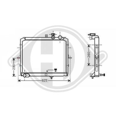 Radiateur, refroidissement du moteur - Diederichs Germany - 8659001