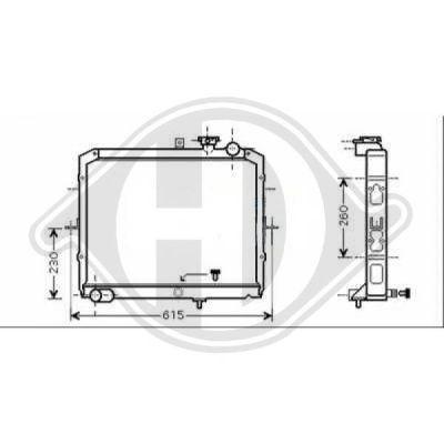 Radiateur, refroidissement du moteur - Diederichs Germany - 8659002