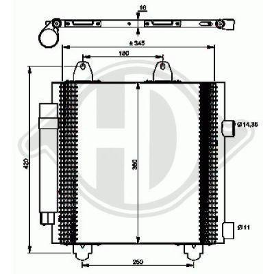 Condenseur, climatisation - HDK-Germany - 77HDK8660000