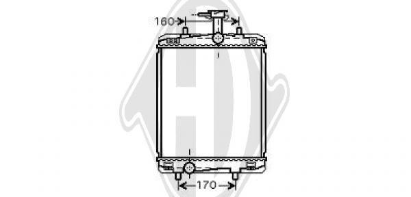 Radiateur, refroidissement du moteur - Diederichs Germany - 8660005