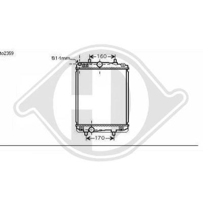 Radiateur, refroidissement du moteur - Diederichs Germany - 8660007