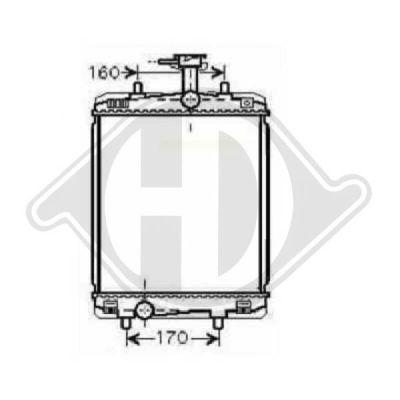 Radiateur, refroidissement du moteur - Diederichs Germany - 8660008