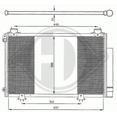 Condenseur, climatisation - Diederichs Germany - 8660500