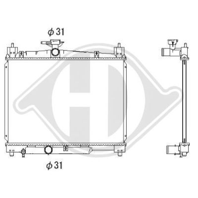 Radiateur, refroidissement du moteur - HDK-Germany - 77HDK8660550