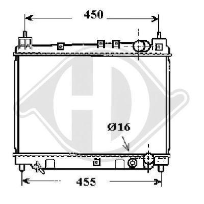 Radiateur, refroidissement du moteur - Diederichs Germany - 8660551