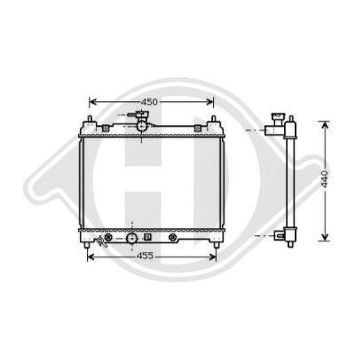 Radiateur, refroidissement du moteur - Diederichs Germany - 8660552