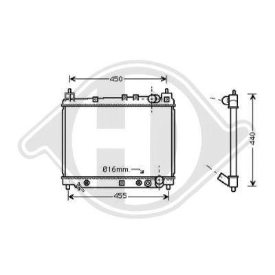 Radiateur, refroidissement du moteur - Diederichs Germany - 8660553