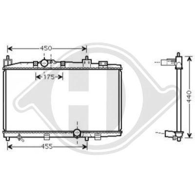 Radiateur, refroidissement du moteur - Diederichs Germany - 8660555